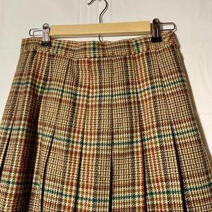 L.L. Bean Skirts - L.L. Bean vintage wool plaid midi skirt womans 10